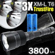 3x CREE XM-L T6 3800 lm