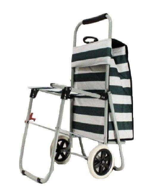 Сумка-тележка хозяйственная со стулом
