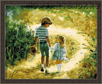 """Раскраска по номерам """"Счастливое детство"""""""