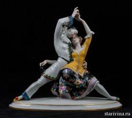 Страстное танго (танец пьеро и коломбины). Volkstedt, Германия, 1915-36 гг., артикул 00526