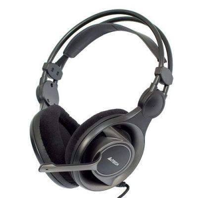 Наушники с микрофоном HS-100 (черный) игровая стерео, 3.5мм jack