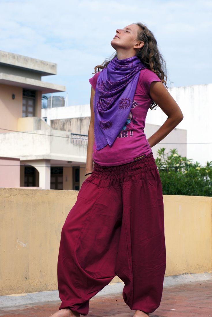 Вишнёвые штаны алладины (отправка из Индии)