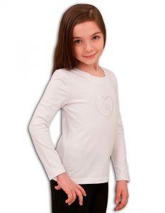 Белая блузка для девочки Basia