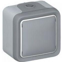 Переключатель Plexo 10A, IP 55, серый, для накладного монтажа (арт.69711)