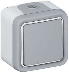Выключатель Plexo промежуточный IP55 серый (арт.69716)