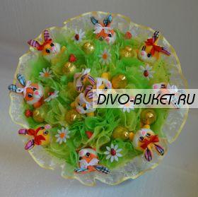 """Букет из игрушек и конфет №036-9к """"Утренняя свежесть"""""""
