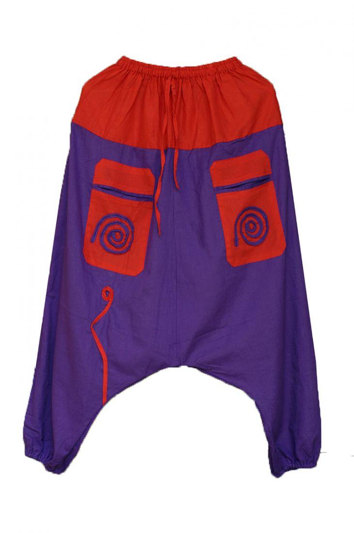 Мужские штаны алладины фиолетовые (отправка из Индии)
