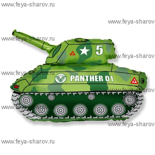 Шар Военный танк 81 см