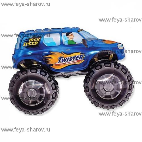 Шар Супер внедорожник синий 81 см