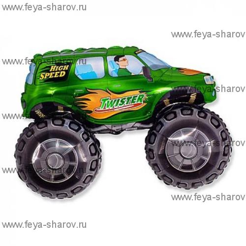 Шар Супер внедорожник зеленый 81 см
