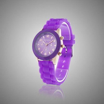 Фиолетовые наручные часы Geneva
