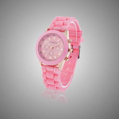 Розовые наручные часы Geneva
