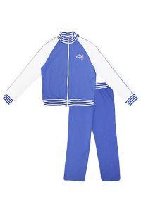 Спортивный костюм для девочки темно-голубого цвета.