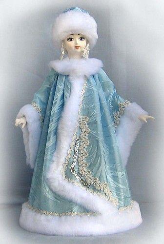 Кукла-конфетница Снегурка