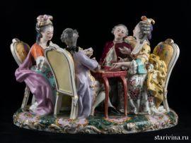 Игра в карты. Франция, 19 век