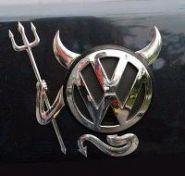Логотип стикер Чертенок