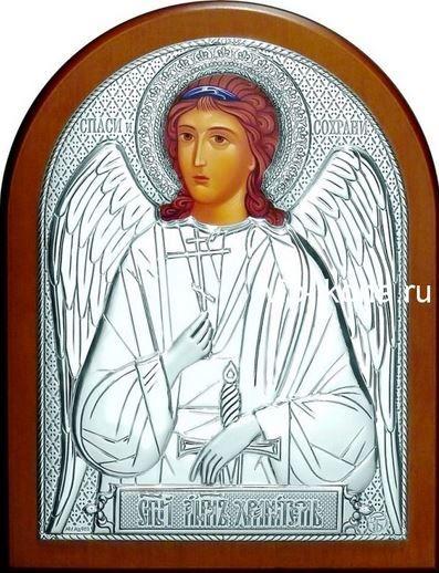 Серебряная икона Ангела Хранителя (листовое серебро, 12*16см., Россия)