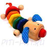 """I'm toy. Игрушка деревянная """"Щенок"""""""