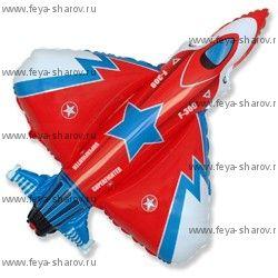 Шар Истребитель Красный 81 см
