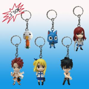 """Брелки на ключи с героями аниме """"Fairy Tail"""""""