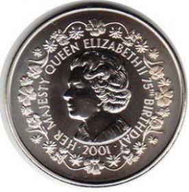 75-лет Елизаветы II 50 пенсов Фолклендские острова  2001