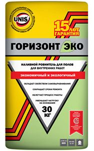 ЮНИС ГОРИЗОНТ ЭКО - гипсовый ровнитель для пола (10 - 100мм) (30 кг)