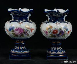 Две декоративные фарфоровые вазы, Meissen, Германия, 2-ая половина 19 века