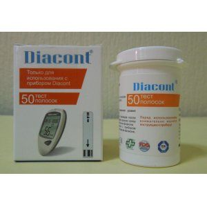 Тест-полоски Диаконт (Diacont) 50шт
