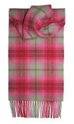 шарф 100% шерсть , коллекция Горец -яркая клетка, расцветка Лепесток Лилии Lilliesleaf, плотность 6