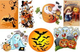 Водорастворимая бумага с рисунком Хеллоуин 1 216х139мм