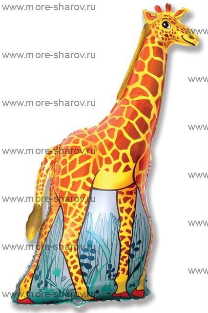Шар Жираф оранжевый (90 см)
