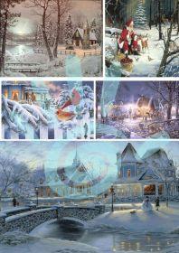 Карта для декупажа Рождество №27-0028-1