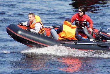 Лодка с надувным дном Air Line 380 (НДНД)