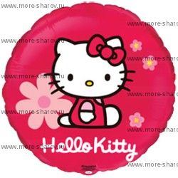 Шар фольгированный Kitty в цветах 46 см