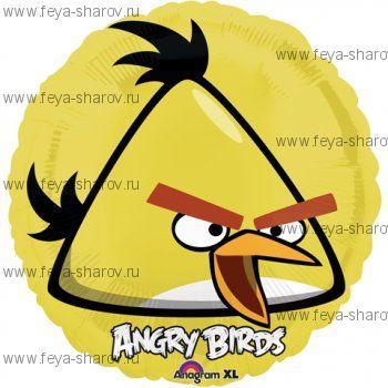 Шар Angry birds 46 см Желтый