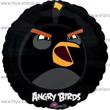 Шар Angry birds 46 см Черный