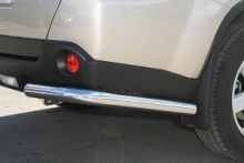 Защита заднего бампера, Tehnotec, уголки, нерж. сталь ф 60мм