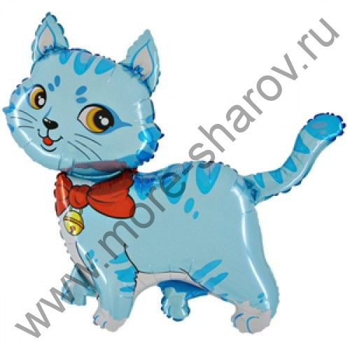 Шар Котенок голубой 81 см