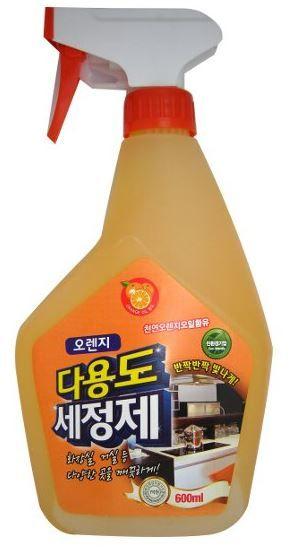 581012 Универсальное жидкое чистящее средство для дома с апельсиновым маслом, 600ml