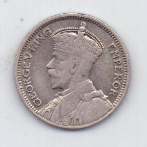 6 пенсов 1935 г. редкий год Новая Зеландия(Великобритания)
