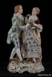 Романтическая пара, Volkstedt, Германия, 1886-1894 гг
