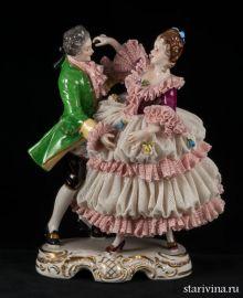 Танцующая пара, кружевная, Volkstedt, Германия., артикул 00573
