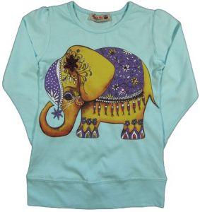 Кофта для девочки со слоном