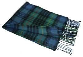 шарф 100% шерсть , расцветка  клан Стюартов (вариант hunting)