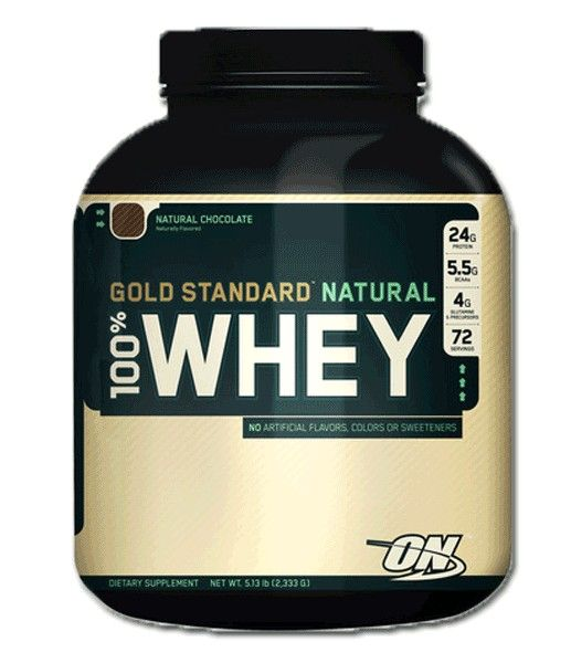 Optimum Nutrition - 100 % Whey Gold standard Natural(5 lb/2270г)