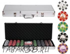 Покерный набор Royal Flush на 500 ф. кейс (фишки 11.5г с номиналом карты полупластик)