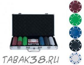 Покерный набор Bez на 300 ф. кейс (фишки 9,5г без номинала, карты полупластик)