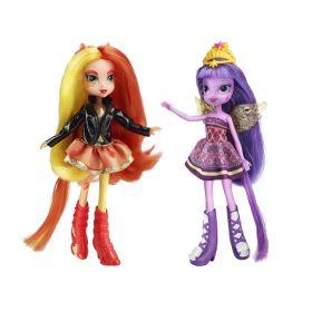 Игровой набор Сансет Шиммер (Sunset Shimmer) и Сумеречная Искорка (Twilight Sparkle), серия Equestria Girls, MY LITTLE PONY