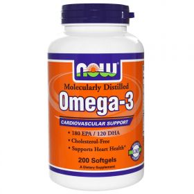 NOW Omega-3 (200 капсул)