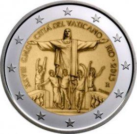 XXVIII День молодежи в Рио-де-Жанейро  2 евро Ватикан 2013